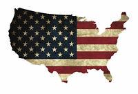 Wandtattoo USA Flagge Old , Modern 6 Größen Aufkleber Sticker Deko Amerika Folie