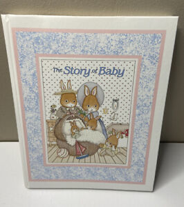 The Story Of Baby - 1989 Rare Unused Baby Memory Book By Cara Marks -Bunnies