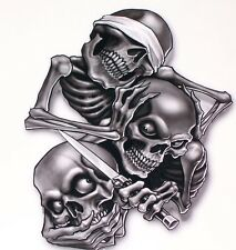 """See No Evil Here No Evil Speak No Evil Decal 5"""" Free Shipping"""