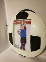 LOT OF 9 soccer ball picture frame. NEW. holds  a photo  5 x 7 inch.