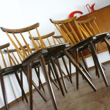 1/2 VINTAGE Stuhl Streben Sprossen ROCKABILLY CHAIR Küchen MID CENTURY (6854)