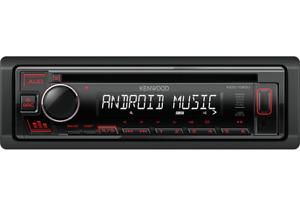 Kenwood KDC-130UR CD Autoradio mit USB AUX IN und roter Tastenbeleuchtung