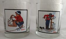 Arby's Norman Rockwell Collectible Glasses, set of 2