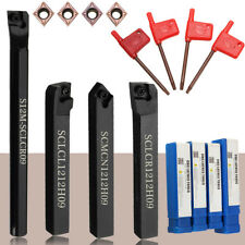 4 Set 12mm Lathe Index Boring Bar Turning Tool Holder For CCMT09T3 Insert Blade