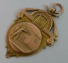 WW1 Interest 9ct Rose Gold Shooting Pocket Watch Fob or Medal t0827