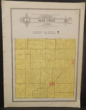 Illinois Christian County Map Bear Creek Township c1930 W20#17