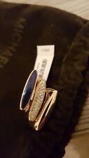 MICHAEL KORS 3 Damenringe MKJ4512710 Edelstahl Gold Blau mit Steinen Gr. 165