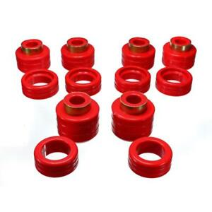 Energy Suspension Body Mount Set 3.4123R; Red Polyurethane for Chevy C/K Trucks