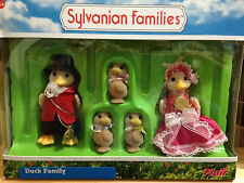 Sylvanian Families Duck Families Mom Dad Brother & Sister Box of 4 figures~Rare