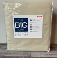 The Big One Easy Care Beige Queen Sheet Set 275 TC Tan Travertine 4pc Kohls NWT