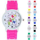 Fashion Women Girl Cute Bear Analog Quartz Wrist Watch Silicone Band Watch Gifts