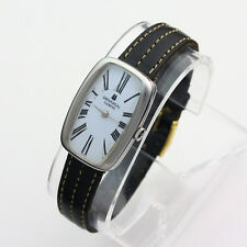 Vintage Stainless Steel Universal Geneve 17J Rectangular Wristwatch ca. 1940's