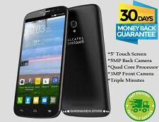 Alcatel One Touch Pop Icon 4GB Android Prepaid Phone Triple Minutes Tracfone New