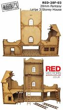 RED-28F-03 - 28mm Wargames - Fantasy 3-Storey House (for Mordheim / Frostgrave)