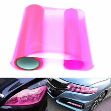 30X100CM Gloss Pink Taillight DRL Headlight Vinyl Film Cover Overlay Protector