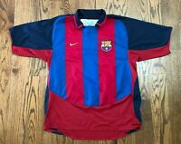FC Barcelona FCB Nike 2003-2004 Home Vintage Soccer Jersey Men's Large VTG