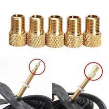 5 X Brass Bike Bicycle Presta to Schrader Adapter Valve Converter Pump Connector