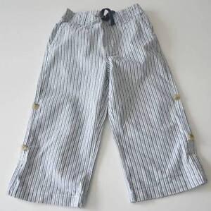 Boys JANIE & JACK Sz 18 24m Summer Blues Striped Roll Up Deck Pants