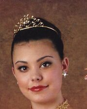 NEW Gold Metal Rhinestone Ballerina Tiara Celtic Diva Irish Dance Headpiece comb