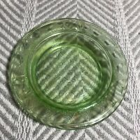Vintage Anchor Hocking Green Starburst Glass Ashtray