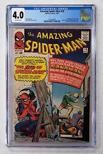AMAZING SPIDER-MAN #18 CGC 4.0 1st APPEARANCE NED LEEDS 1964 SANDMAN FF