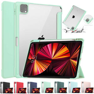 """Smart Cover Stand Case With Pencil Holder For iPad Pro 11"""" 12.9"""" 2021 2020 2018"""