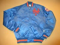 Vintage New York Mets Starter Satin Snap Up Insulated Jacket Large TALL