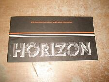 1979 PLYMOUTH HORIZON OWNERS MANUAL ORIGINAL GLOVE BOX BOOK