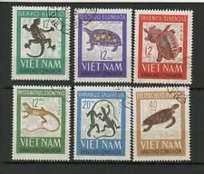 Vietnam du Nord 1966 reptiles série de 6 timbres oblitérés /TR8412