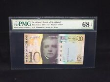 "2007 Scotland,Bank Of Scotland £10 P-125a  Low Serial ""10"" PMG 68 EPQ"