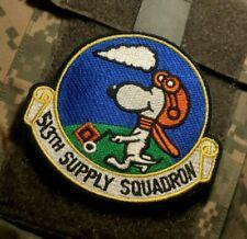 USAF 513th SUPPLY SQUADRON RAF Mildenhall UK burdock-vêlkrö PATCH: SNOOPY FLYER