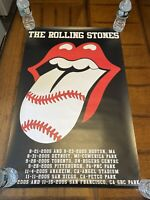 Original 2005 Tour The Rolling Stones Baseball Parks Poster Tongue & Lips 22x34""