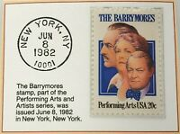 1982 20c The Barrymores Stamp