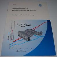 Selbststudienprogramm VW Schaltsaugrohre der VR VR6 Motoren SSP 212 12/1998!