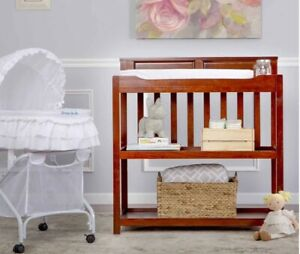 Dream On Me Zoey 3-in-1 Convertible Changing Table with Pad, Espresso