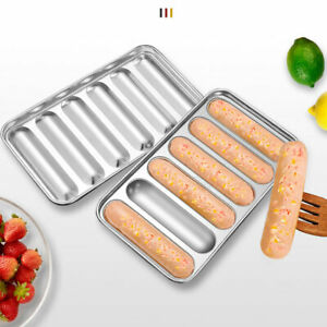 DIY Sausage Heat Resistant Steamed Hot Dog Mold Tray Non Stick Stainless Steel