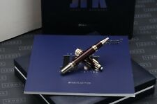 More details for montblanc great characters jfk burgundy special edition rollerball pen