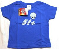 Soft As A Grape MILB Las Vegas 51s Tee T-Shirt Blue 2T New NWT