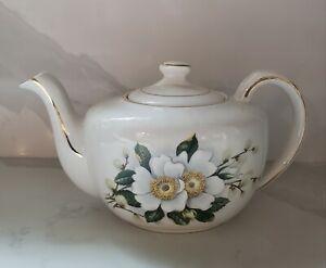 Vintage Ellgreave Wood & Sons England Genuine Ironstone Teapot