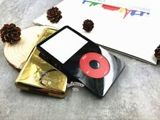 black faceplate gold back case cover housing clickwheel for ipod 5th video 30gb
