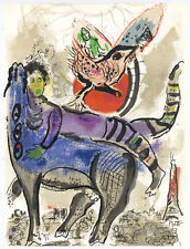 "Marc Chagall original lithograph ""The Blue Cow"""