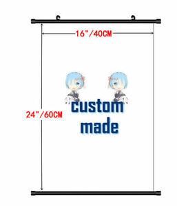 40X60CM Hot custom made Anime Movie Wall scroll DIY custom made Poster Scroll