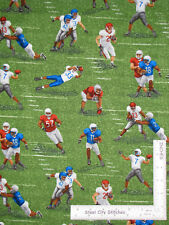 Football Sports Players Cotton Fabric Blank Textiles 8869 Touch Down By Yard