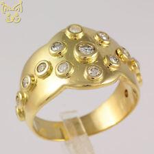 "Brillant Ring 15 Brillanten 0,41ct 750 18K Gold Gelbgold ""WERBEARTIKEL"""