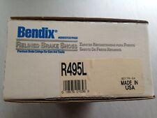 USA NOS Bendix R495L Relined Shoe Set fits 495L