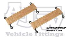 4 X CUOIO PORTA controllo Cinturini Nero Staples horseboxes, camion, autobus, AUTO, PULLMAN