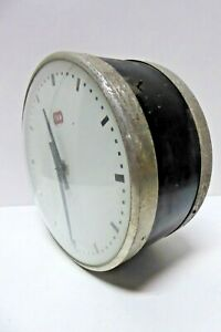 VINTAGE DOUBLE SIDE CSA HALL CLOCK INDUSTRIAL GOVERNMENT HOSPITAL SCHOOL FACTORY