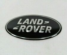 LAND ROVER GRILLE EMBLEM BLACK/SILVER FRONT GRILL OVAL BADGE sign symbol logo