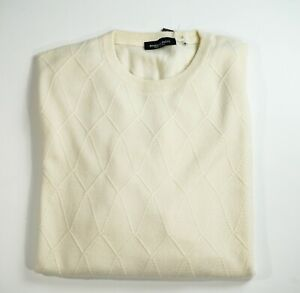 NEW STEFANO RICCI LOGO Sweater CASHMERE Size 2XL Us 56 Eu (M43)