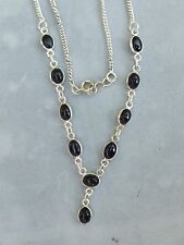 925iger Silber Collier Onyx